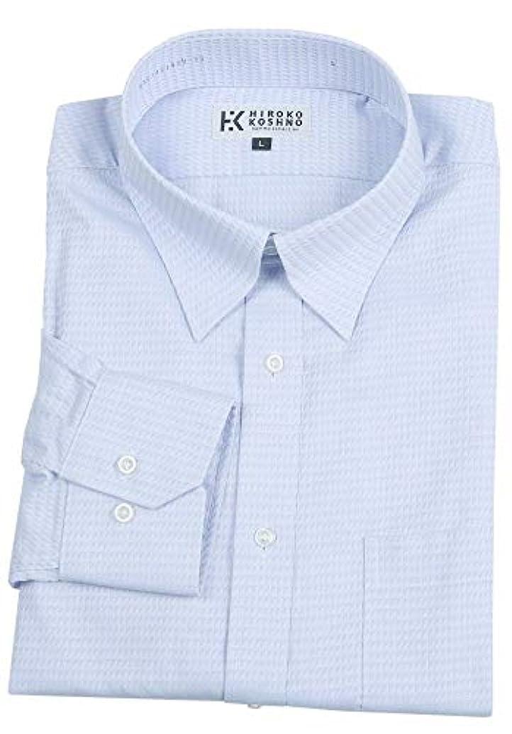一般的に言えば育成ログ【HIROKO KOSHINO HOMME】ヒロココシノオム 「形態安定」スナップダウン チェック ドレスシャツ(長袖) 青 size L