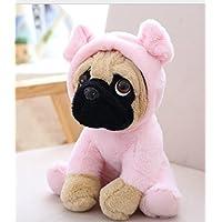 HuaQingPiJu-JP 20cm犬のおもちゃソフトぬいぐるみ犬の人形人形ぬいぐるみぬいぐるみおもちゃの子供たちのためのピンク(ピンク)