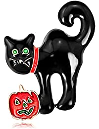 Manyao ハロウィンのブローチの猫の子猫新年のバックパックの宝石のバッジの宴会のピンのギフト