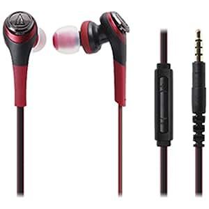 オーディオテクニカ SOLID BASS iPod/iPhone/iPad専用インナーイヤーヘッドホン レッド ATH-CKS550i RD