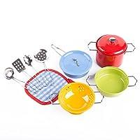 KIDAMIキッチン用おもちゃーカラフルなステンレス製子供用調理器具セット