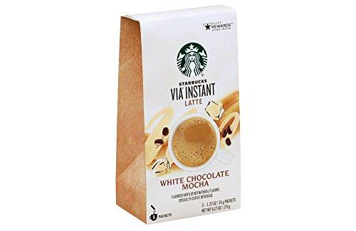 Starbucks VIA White Chocolate Mocha スターバックスVIAホワイトチョコレートモカ5杯分 [並行輸入品]