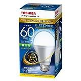 東芝ライテック LED電球 一般電球形 広配光タイプ 調光器対応 60W 昼白色 LDA8N-G-K/D/60W 口金直径26mm
