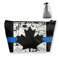 カナダのシンブルーライン 台形 収納ポーチ メイクアップバッグ 小物入れ 整理 化粧ポーチ ハンドバッグ 旅行用品 収納バック 軽量 頑丈 防水バック 耐久性