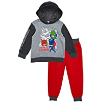 PJ Masks Time to Be A Hero Fleece Hoodie Jogger Set (Red/Grey/Black, 4)