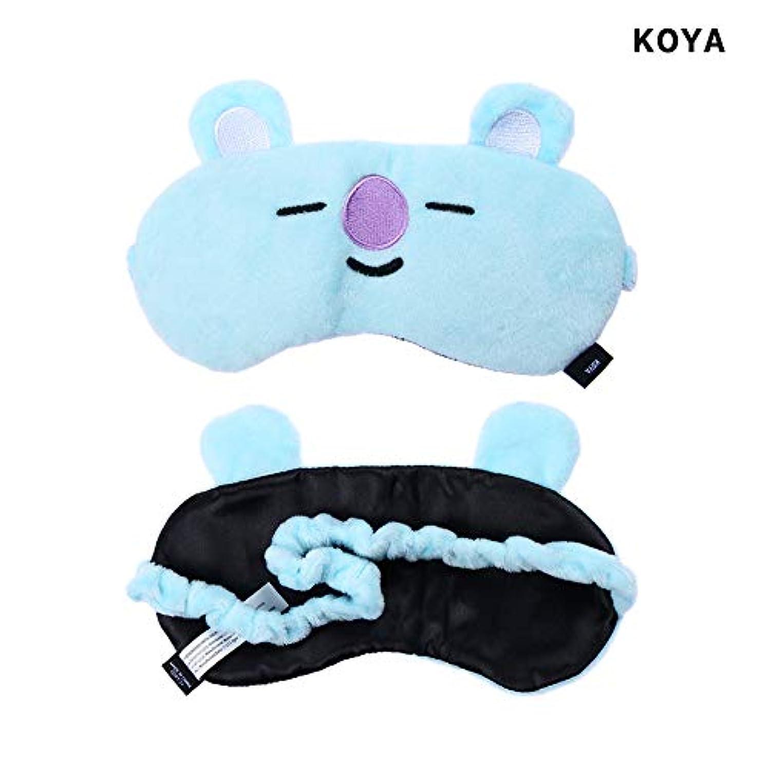 注文一生船NOTE かわいいアイマスクK-POP BTSバンタンボーイズレストスリープマスクBT21スガタタチミーRJクッキーアイシェードアイマスクパッチ睡眠ケアツール