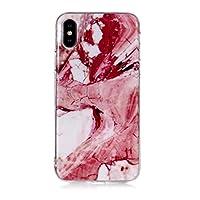 iPhone X/iPhone XS ケース, OMATENTI マーブル 美しい薄型 柔らかTPU い ケース, 人気 新製品 滑り防止 衝撃吸収 全面保護 バックケース, 耐摩擦 耐汚れ 落下防止 耐衝撃性 iPhone X/iPhone XS 用 Case Cover,パターン-21