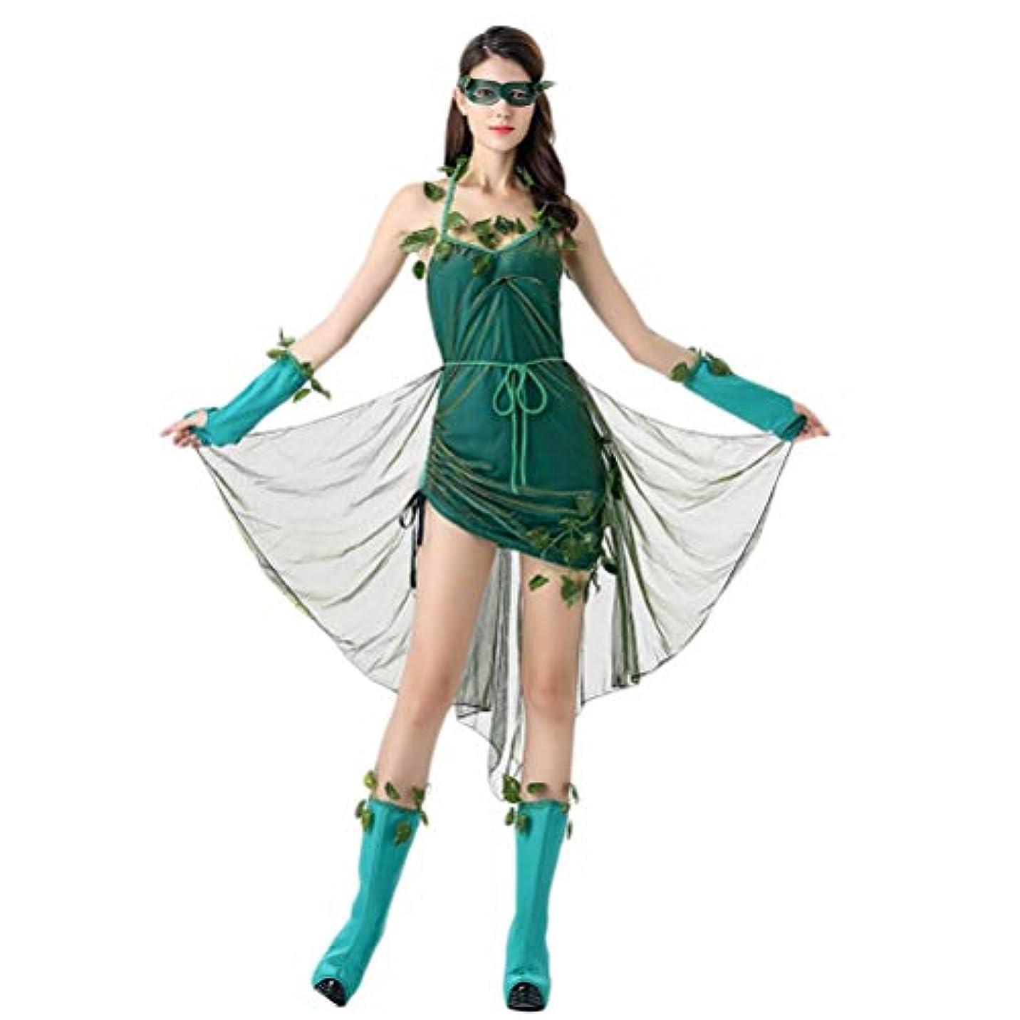 実装するふりをするアルネBESTOYARD ハロウィンステージの衣装美しいエルフの衣装森の悪魔の女神女性のコスプレ衣装ユニフォームパーティードレススーツ