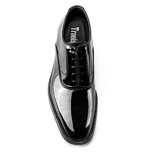 7cm up シークレットシューズ マスアルトス Charol 黒 26.6cm イタリア製100% ハンドメイド