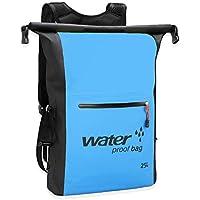 防水リュック 防水バッグ 大容量 25L 海水浴 登山 釣り ダイビング 自転車 多機能 アウトドア リュックサック デイバッグ ドライバッグ ツーリング収納袋 (スマホ用 防水ケース付き )