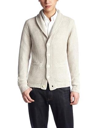 7 Gauge Shawl Collar Rib Cardigan 116-41-0396: Beige