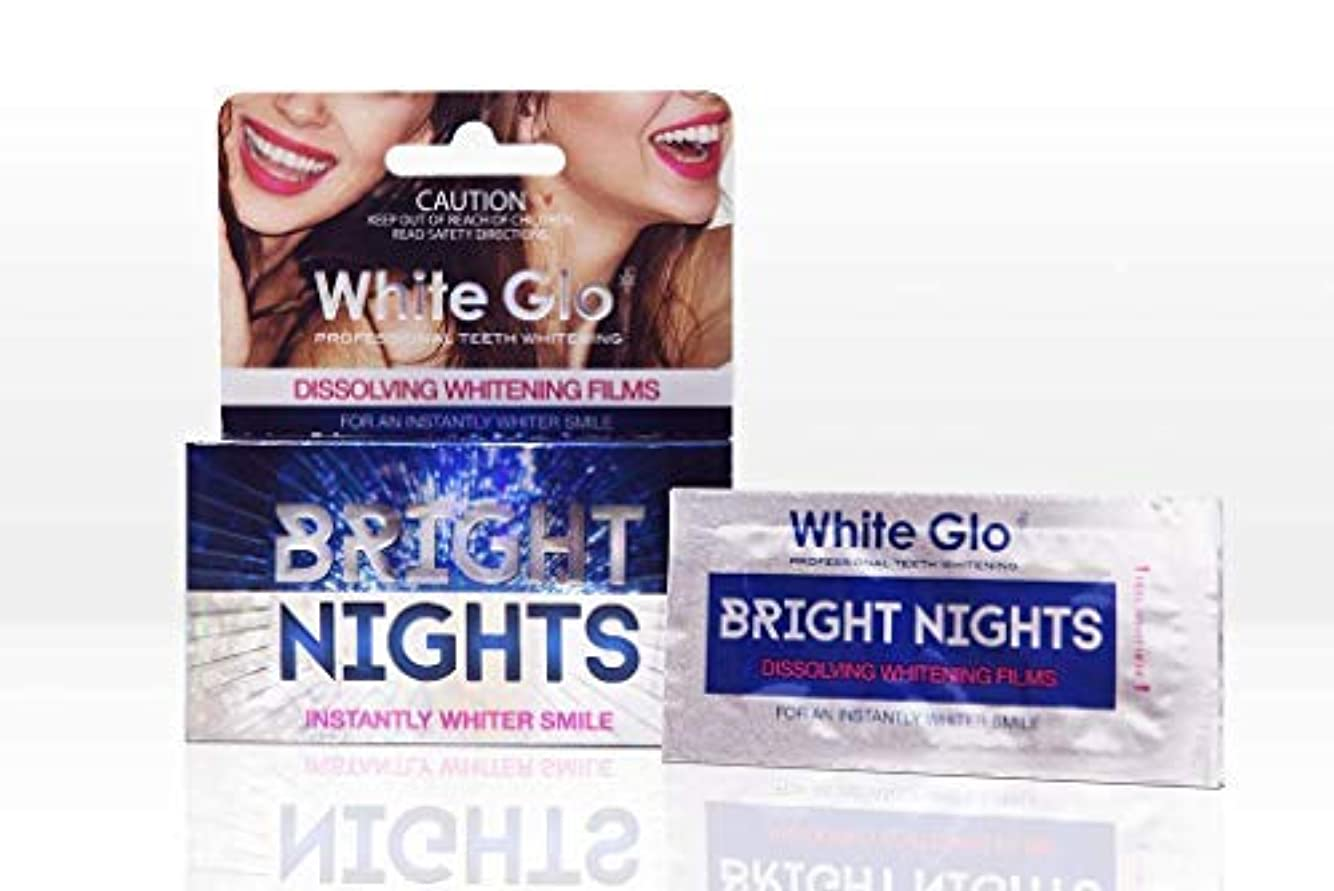 現像値サミュエルTeeth Whitening Systems White Glo Bright Nights Whitening Strips 6pcs Australia / システムを白くする歯を白くするストリップの白を明るくする...