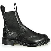 トリッカーズ TRICKER'S L2754 BOOTS HENRY SIDE GORE BLACK ダブルレザーソール エラスティック ブローグ ブーツ ブラック サイドゴア [並行輸入品]