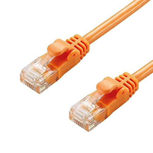 エレコム LANケーブル 5m 爪折れ防止コネクタ やわらか CAT6準拠 オレンジ