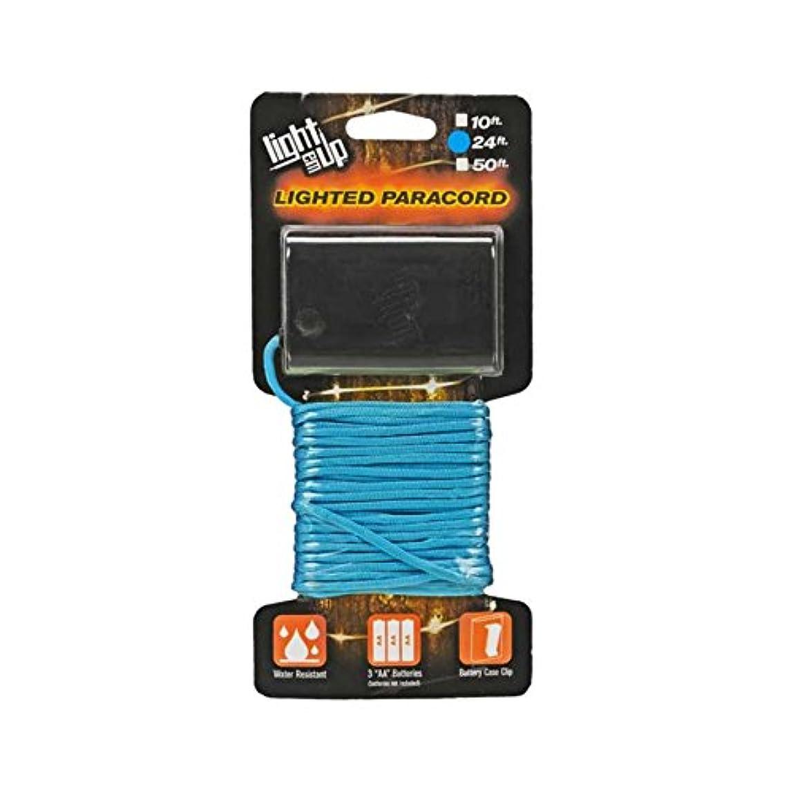 ドナー願望ゴシップ[ラインテッドパラコード] 耐水性 光るパラコード Blue/ブルー 24フィート(約7.3m) htpc24bu
