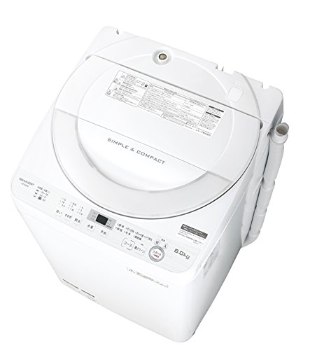 シャープ 全自動洗濯機 ステンレス穴なし槽 6kg ホワイト...