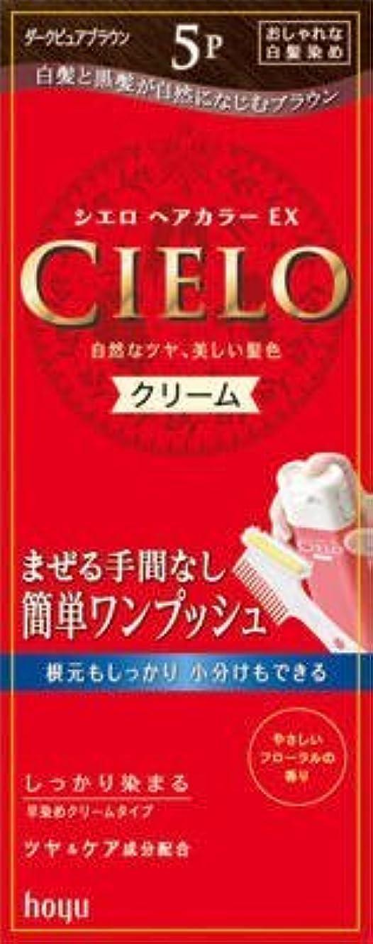 グラス現実つらいシエロ ヘアカラー EX クリーム 5P ダークピュアブラウン × 5個セット