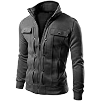 OVERMAL Mens Jackets Winter Tops Fashion Mens Slim Designed Lapel Cardigan Coat Jacket