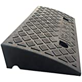7CM/11CM Threshold Ramps, Patio Garden Step Mat Bicycle Motorcycle Uphill Pad Outdoor Stairs Slope Pad (Color : Black, Size : 50 * 27 * 7CM)