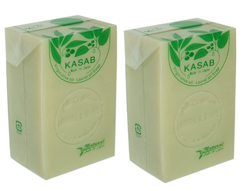 チラチラする樹木関連付けるカサブ石鹸2個セット