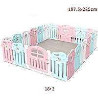 HUO ベビープレイペン子供安全フェンスの幼児クロール幼児ムーンフェンスプレイグラウンド 省スペース (サイズ さいず : 18+2)