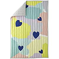 Greenbuds Abstract Affection Organic Cotton Crib/Toddler Comforter with Wool Fill by Greenbuds