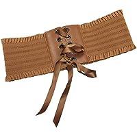 Bigood Women's Occident Stretchy Ribbon Lace UP Wide Waistband Dress Belt