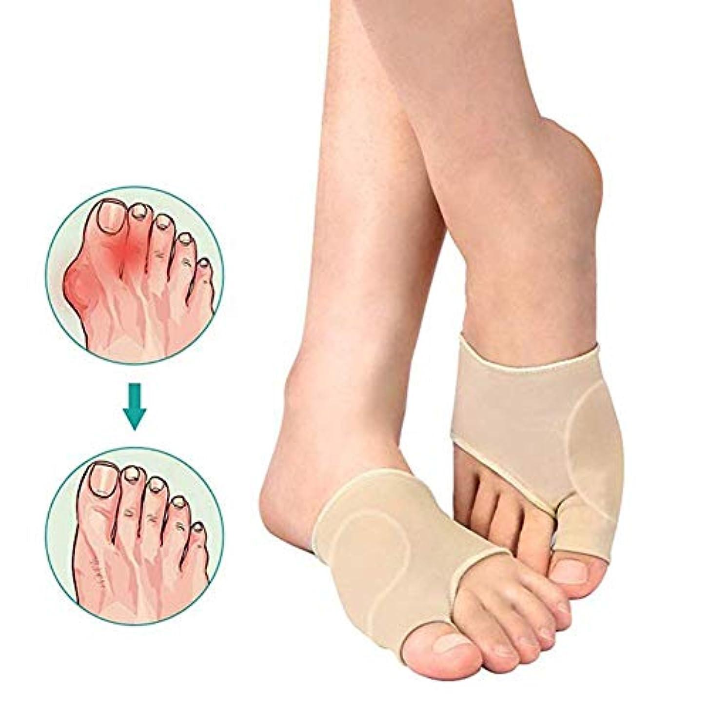 結婚した砂利通知Bunion Corrector Toe StraightenerビッグトゥスプリントバニオンプロテクターはHallux外反疼痛緩和1ペアのためのゲルパッドとセパレータ付きスリーブをサポートしています,M