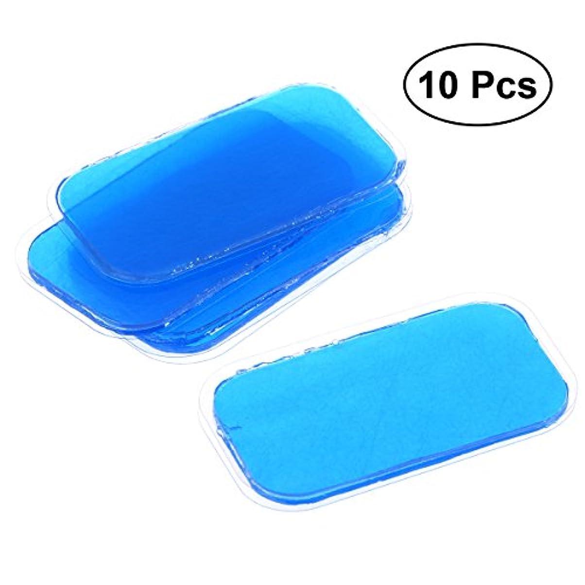 香ばしい定常カメROSENICE 体フィットゲルシートゲルパッチフィットネス用スーパー接着剤刺激ゲル10個
