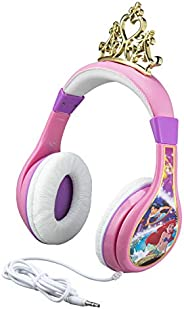 Disney Princess Kids Headphones For Kids Adjustable Stereo Tangle-Free 3.5Mm Jack Wired Cord Over Ear Headset