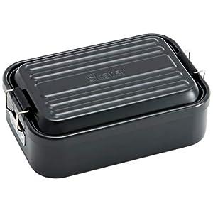 スケーター 弁当箱 ふわっと盛れる アルミ製 お弁当箱 大容量 ブラック 1000ml AFT10B