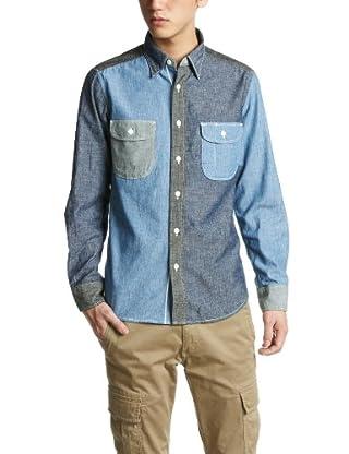 Crazy Pattern Chambray Work Shirt 3211-199-1375: 2