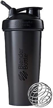 BlenderBottle Classic Loop Top Shaker Bottle, Full Color Black, 28-Ounce Loop Top