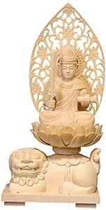 【総桧手彫り 十二支守り本尊 八尊仏シリーズ】卯年生まれを守る文殊菩薩像