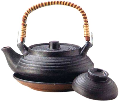 マルヨシ陶器 土瓶むしセット 平形いぶし M2219