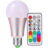 SZXKK LED電球 E26口金 10W LED RGBW 電球 調色調光機能付き 赤外線リモコン付き 記憶機能 タイミング機能 60W白熱灯と相当 電球色(1個入り)