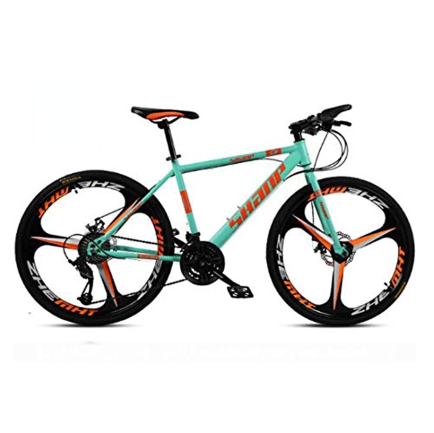 クレーンダイバー歯痛61.5インチのマウンテンバイク21スピード/ 24速度/ 27速度/ 30スピードマウンテンバイク24インチホイール自転車、ブラック、ホワイト、レッド、イエロー、グリーン,D1,21