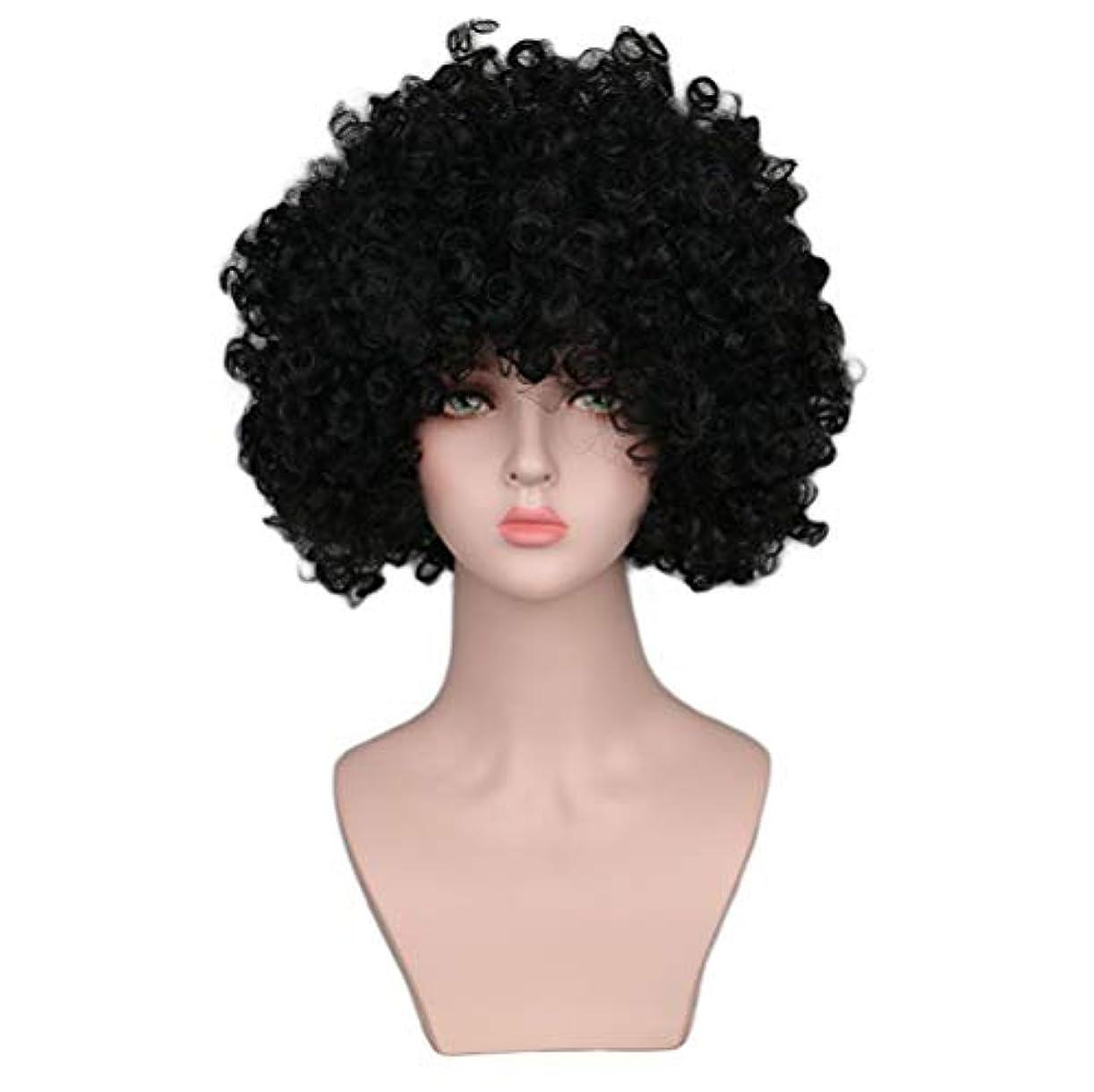さびた眼ブレスかつら女性150%密度爆発耐熱合成小体積爆発ヘッドショートヘアブラックローズヘアネット
