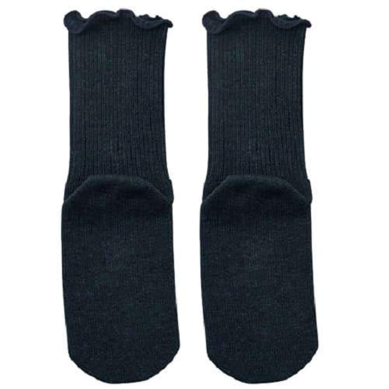 スコットランド人ナンセンスセグメント【むくみ】【骨折】 男女兼用 極上しめつけません 特大サイズ 靴下 (チャコール)