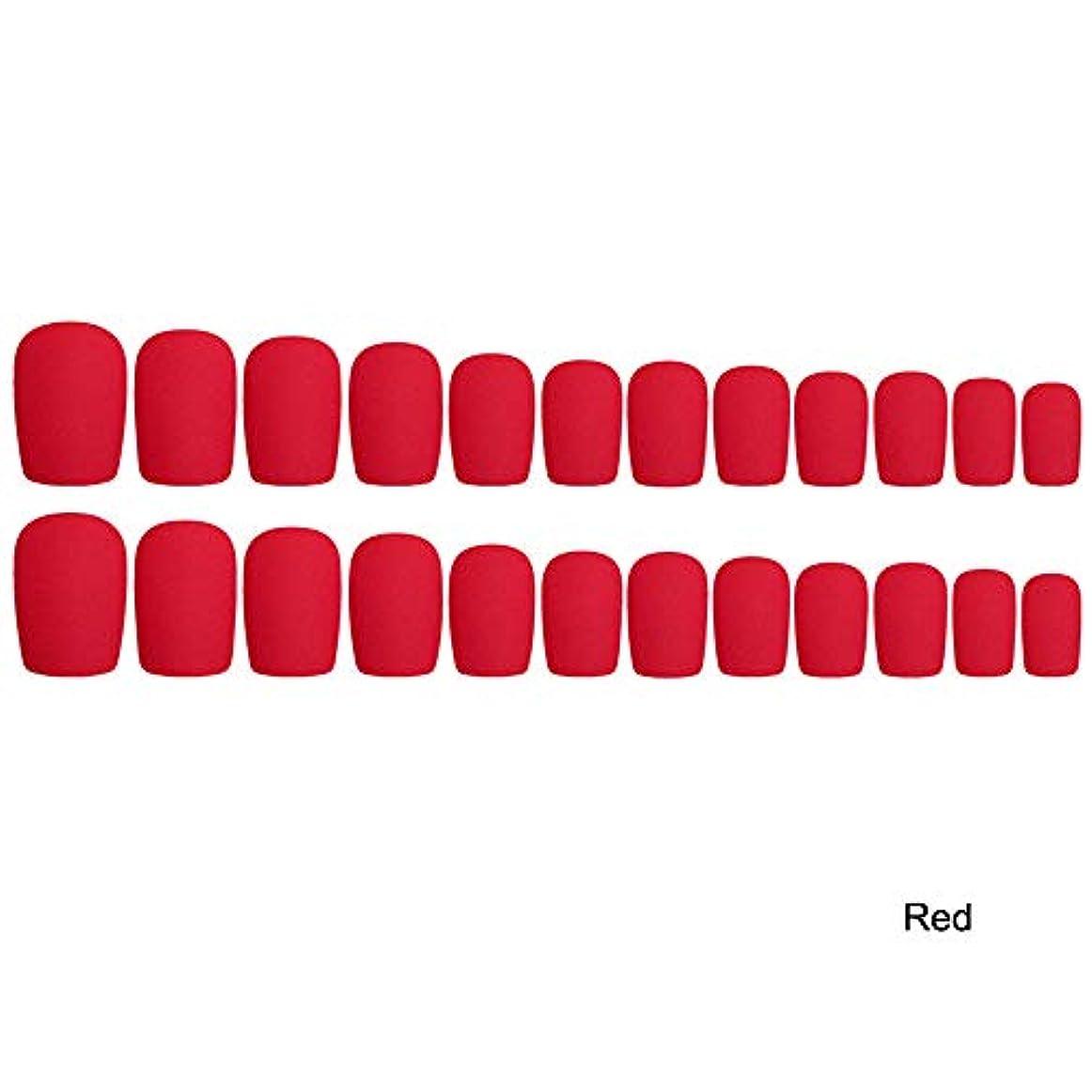 市区町村信者受粉者Decdeal 24枚入れ ネイルチップ ネイル 練習用 ネイル用品 偽爪 つけ爪