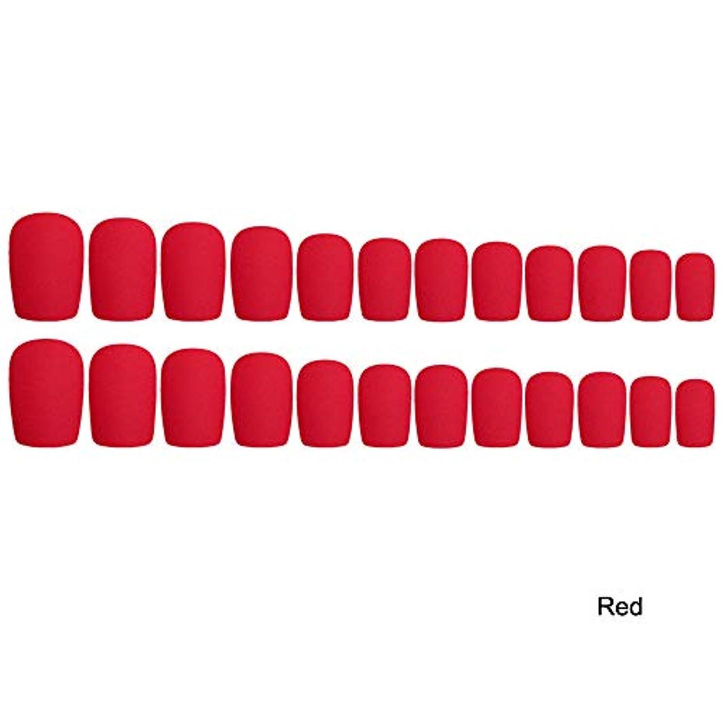 急性マリン薄暗いDecdeal 24枚入れ ネイルチップ ネイル 練習用 ネイル用品 偽爪 つけ爪
