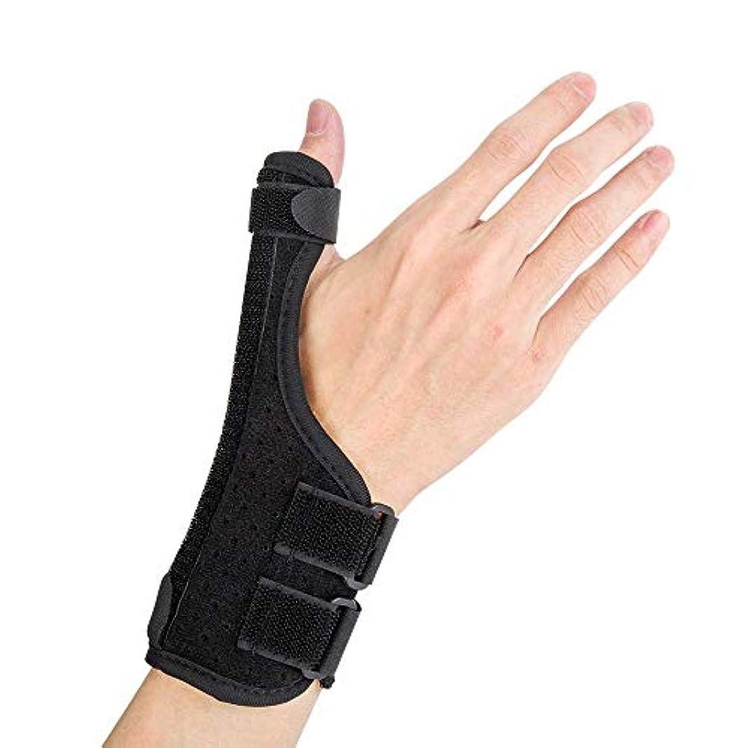 ピンポイント項目意志に反する親指の副木、関節炎、腱炎、手根管の痛みの緩和に適しています。手首、指、親指スタビライザー、軽量で通気性、サイズ調節可能