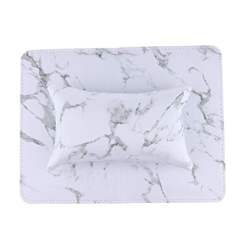 香ばしい三十永久PUクッション ピロー マット ネイルアート ハンド/アームレスト マニキュアツール 全5色 - 白