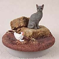 "ブルーCornish Rex Cat CandleトッパーTiny One "" A Day on theファーム"""