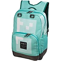JINX Minecraft Diamond Kids School Backpack, Blue, 18""