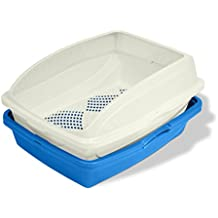Van Ness CP5 Sifting Cat Pan/Litter Box with Frame, Blue and White