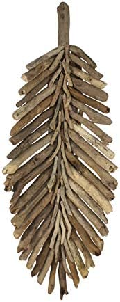 Driftwood Banana Leaf Table Platter or Wall Art (Large)