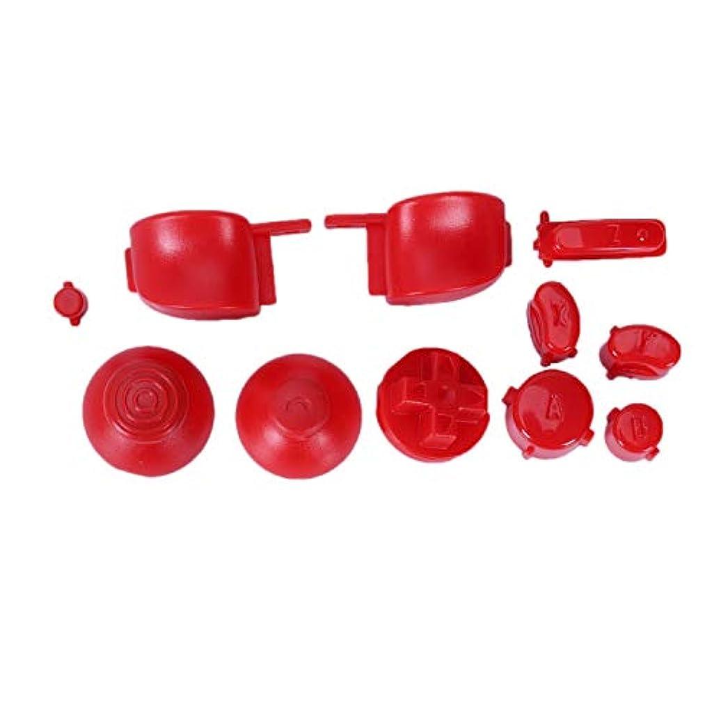 経過血色の良い特別にJVSISM サムスティックAbxy ボタン + D-Pad Modキット、 ニンテンドー Ngcコントローラ ゲームパッド用(赤色)