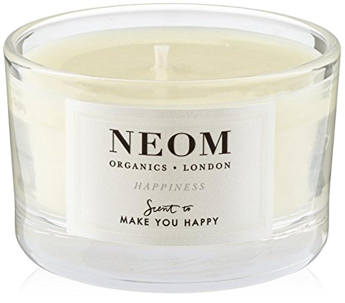 契約する発生する後継NEOM トラベルキャンドル (75g) HAPPINESS(MAKE YOU HAPPY)