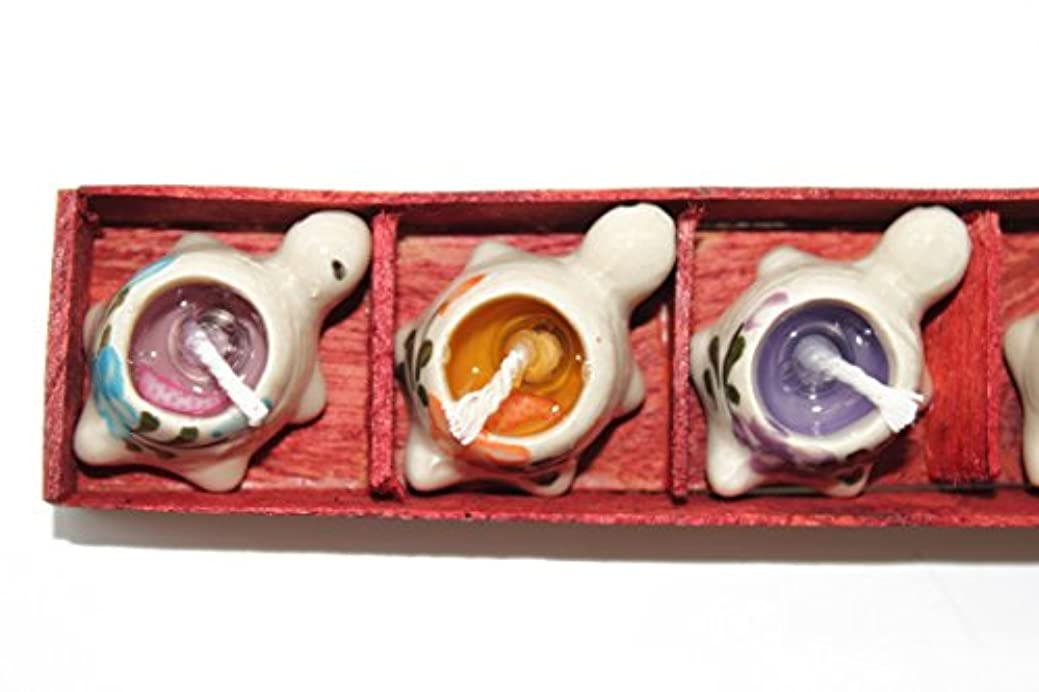 フライカイト裁定確かめるハワイハンドプリントセラミックTurtleまたはHeart Candle Holder Set with 5 Scents One Size LIA-CD5TT